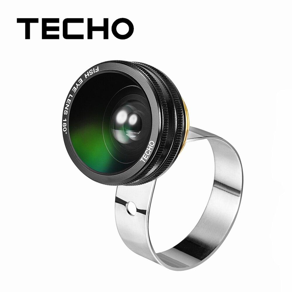 TECHO 3 In 1 Universal Clip Camera Lens Kit 180 Degree