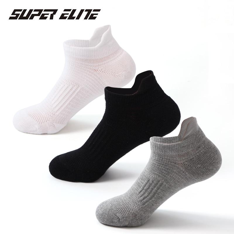 Super Elite Professional Sports Socks Unisex Fitness Cycling Running Boat Tennis Summer Soft Sock Sport  Men Women 3 Pairs/lot