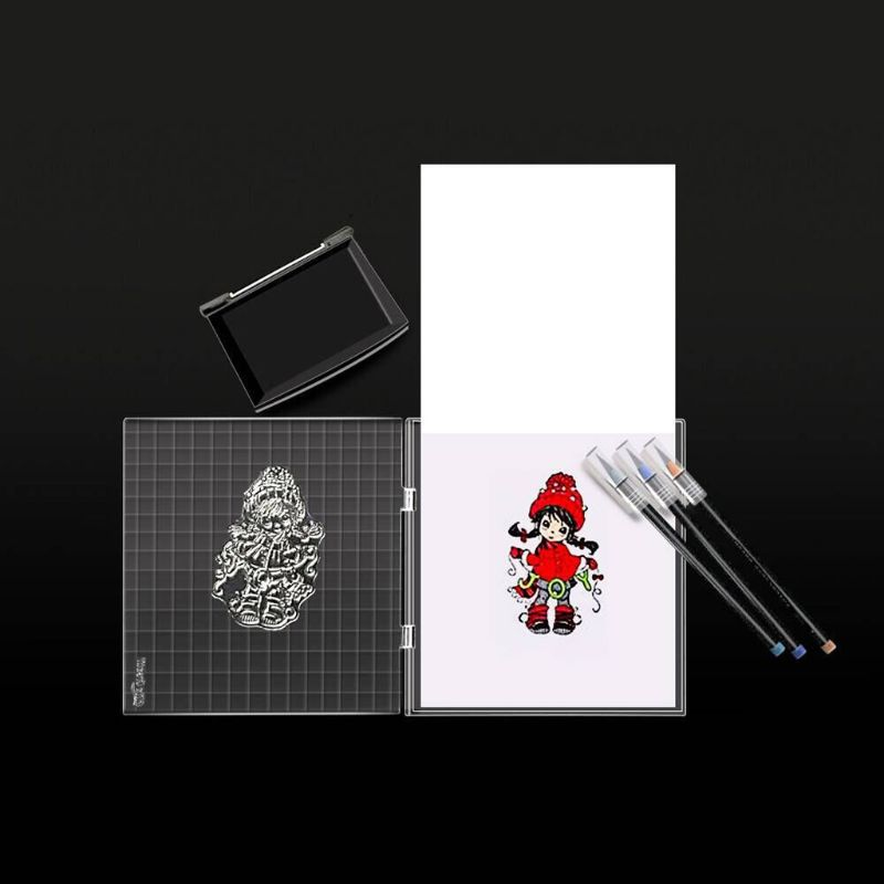16x16cm Clear Stamps Acrylic Block For Transparent Stamp Acrylic Pad DIY Scrapbooking Tools