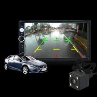 7 Inch Screen Car Stereo Radio 2 DIN MP5 Player USB AUX FM With Parking Camera