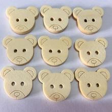 Высокое качество 10 шт. деревянные швейные пуговицы Скрапбукинг маленький медведь два отверстия дропшиппинг