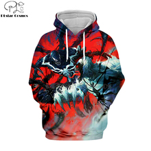 PLstar Cosmos marvel Movie Spiderman Venom Villain Skull Tee 3D Print Hoodies/Sweatshirt long sleeve Unisex Good Quality Top-1