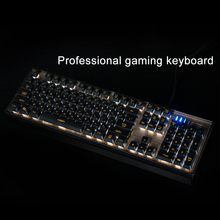Motospeed K10 Ergonomic Multimedia Professional Esport Gaming Keyboard Rainbow LED Backlit 104 Keys USB Wired Gaming Keyboard