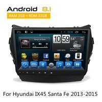 2 Din Android Auto Radio Stereo RDS Wifi 3G BT For Hyundai IX45 SantaFe 2013 2014 2015 Car gps navigation Monitor No DVD Player