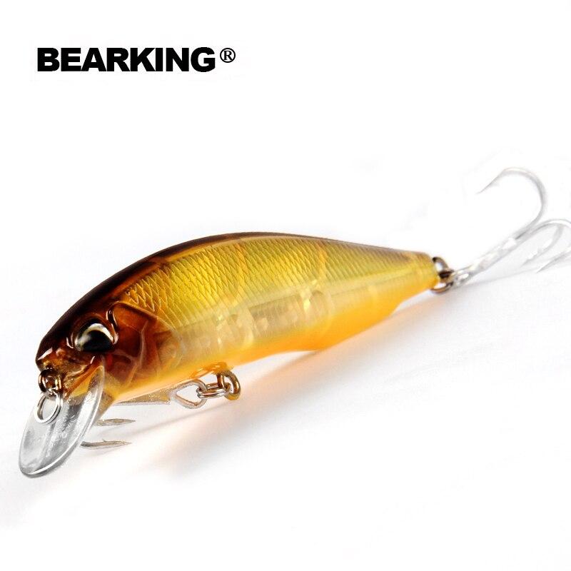 5 pz/lotto Bearking 2017 modello di pesca esche hard esca 7 colore per scegliere 10 cm 15g minnow, la qualità professionale minnow depth0.8-1.5 m
