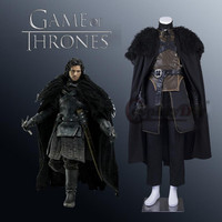 Cosplaydiy Game of Thrones Cosplay Costume Jon Snow Cosplay Knight Role Play Costumes For Adult Men Halloween Custom Made J5