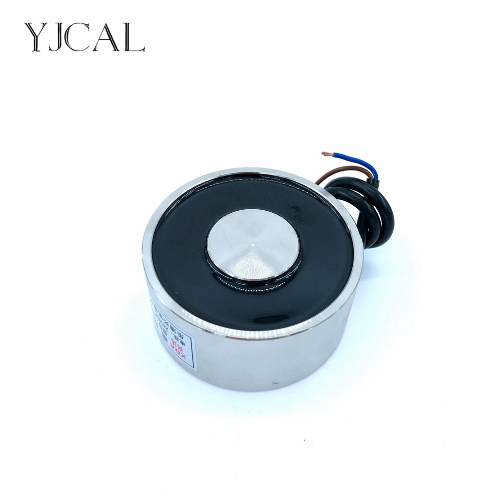 YJ-80/38 Holding Electric Sucker Electromagnet Magnet Dc 12V 24V Suction-cup Cylindrical Lifting 100KG Suction Plate Metal China free shipping heavy duty sucker napfts 80 30 n single sucker suction plate