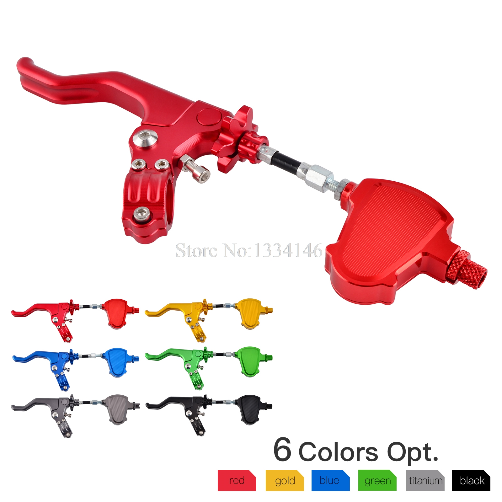 NICECNC Short Stunt Clutch Lever Assembly & Stunt Clutch Easy Pull Cable System For Honda CRF250R CRF450R CRF250L CRF250M 2017