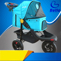 82310 Large Sized Folding Pet Cart Large Dog Cat Dog Trolley Cage Three Wheel Outer Travel