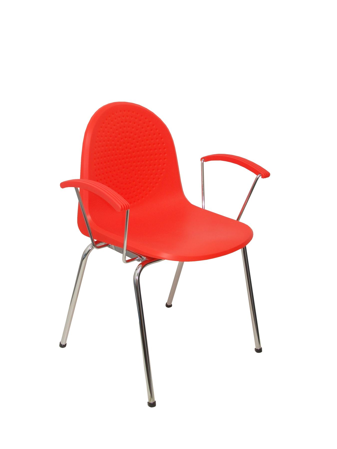 Visitor Chair Desk Ergonomic With Arms Fixed Chrome And Plastic Chrome Bold Up Seat And Backstop Structure Color Na