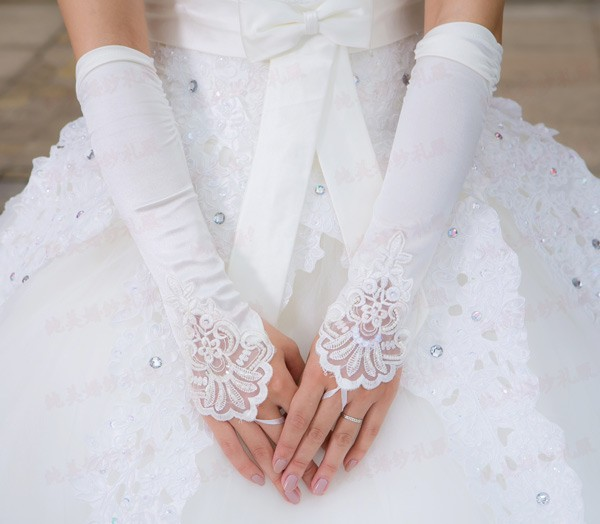 Bridal Gloves Kid Gloves Flower Girl Gloves Long Gloves Girl Dancing Costume Gloves Free Shipping Wholesale