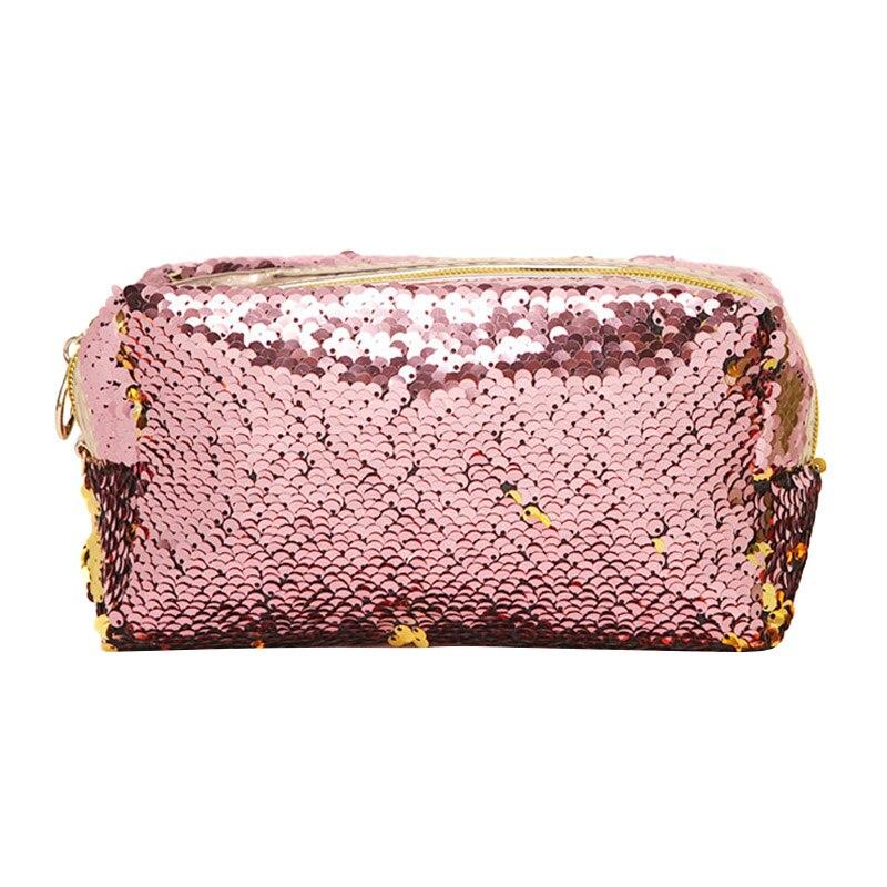 Mode Frauen Make-up Tasche Pailletten Zipper Pinsel Veranstalter Reise Tragbare Toiletten Kosmetische Taschen Lby2018