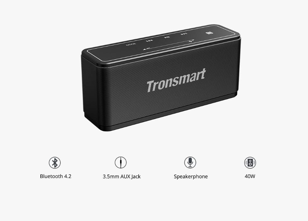 Tronsmart Element Mega Bluetooth Speaker Wireless Speaker 3D Digital Sound TWS 40W Output NFC 20m Portable Speaker MicroSD Card07