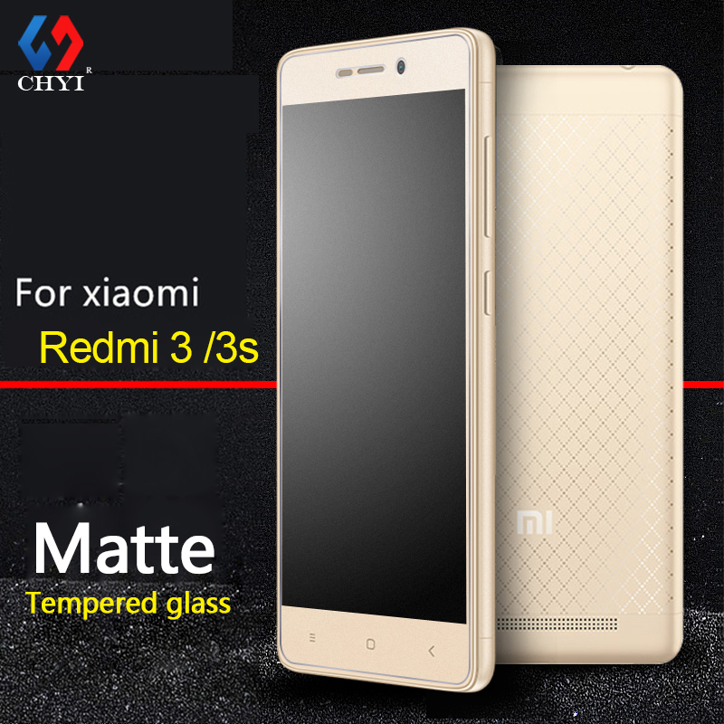 9H Frosted Tempered Glass For Xiaomi Redmi 3S 3 Hongmi 3 Pro 5 0inch Glass Screen