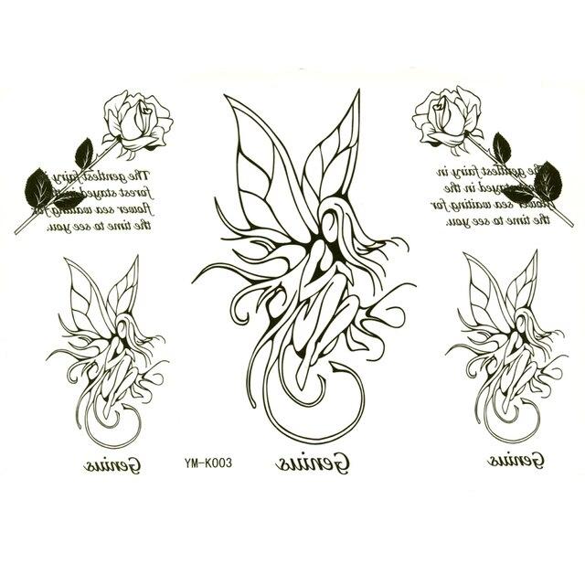 Flower Fairy Waterproof Body Tattoo Stickers Women Tattoo Sleeves