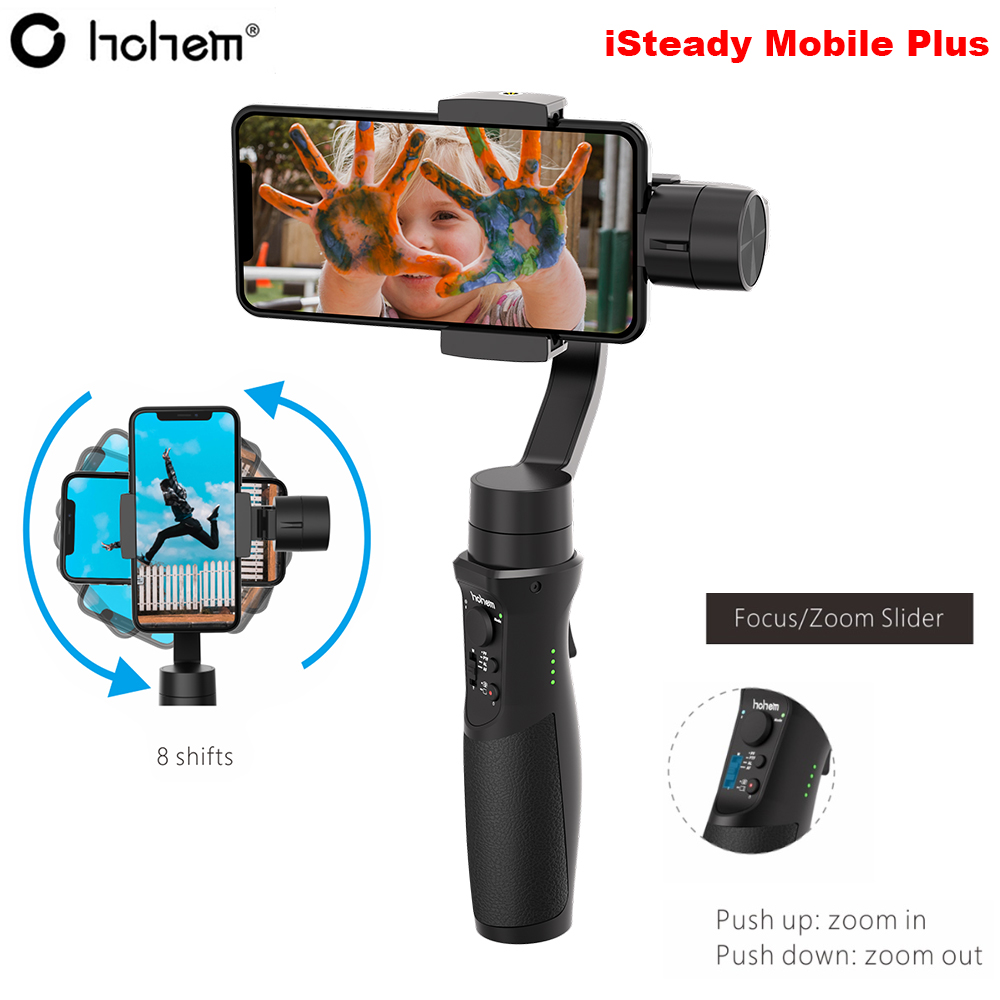 Newest Hohem iSteady Mobile Plus 3-Axis Handheld Smartphone Gimbal Stabilizer for iPhone XS XR X 8P 8 Samsung S10 S9 Pk Smooth 4Newest Hohem iSteady Mobile Plus 3-Axis Handheld Smartphone Gimbal Stabilizer for iPhone XS XR X 8P 8 Samsung S10 S9 Pk Smooth 4