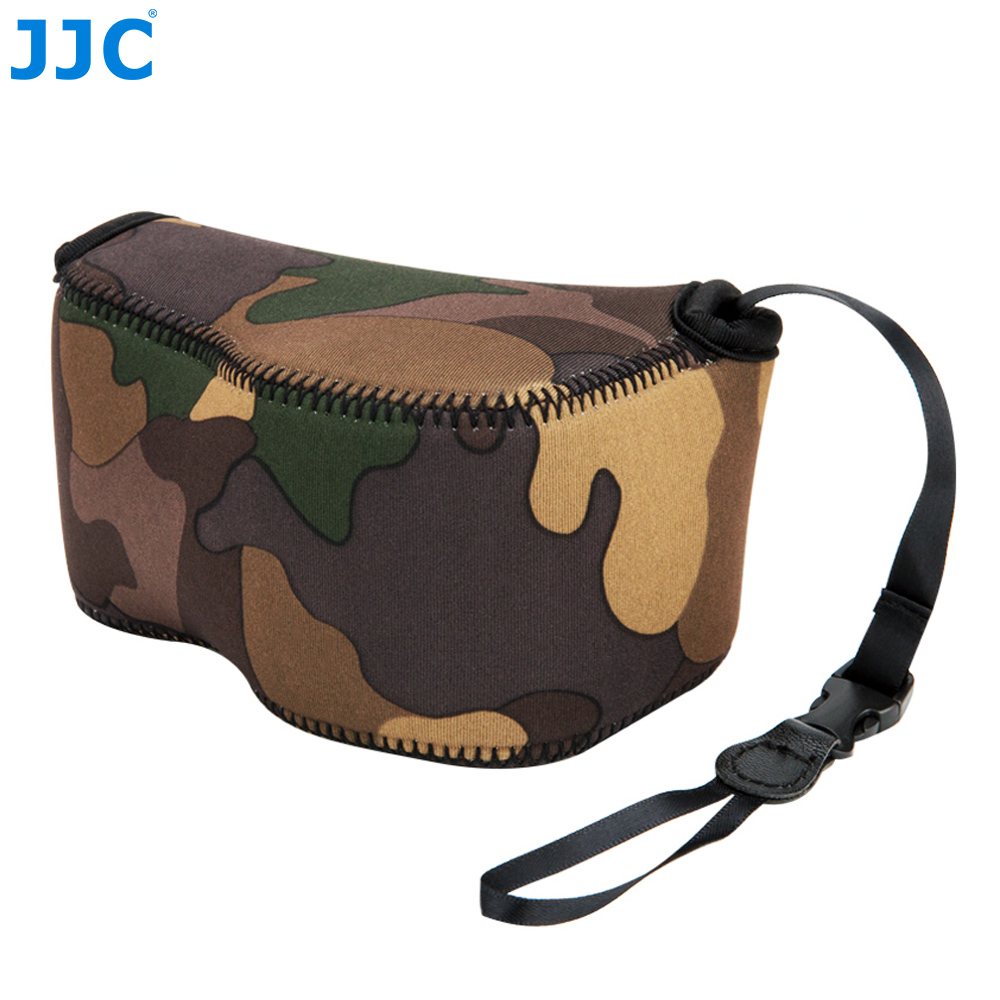 JJC Mirrorless Camera <font><b>Case</b></font> Soft Pouch Neoprene Bag for <font><b>Canon</b></font> <font><b>G1X</b></font> Mark III/Sony A6100 A6600 A5100 A6000 A6300 with 16-50mm Lens image