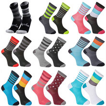 2019 New Cycling Socks Top Quality Professional Brand Sport Socks Breathable Bicycle Sock Outdoor Racing Big Size 6 colors s14(China)