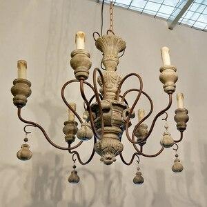 Image 4 - vintage resin chandelier for living room bedroom home decor chandeliers lighting led avize lustre para sala candelabros lustres