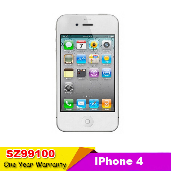 Iphone 4 100% Factory Original Unlocked Apple Iphone 4 Cell phone 3.5 Screen 8GB/16GB/32GB GPS WIFI Dual Camera used phone