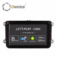 4G SIM LTE Nerwork Ownice C500 1024*600 Android 6.0 2G RAM 2 Din Car DVD GPS Navi Radio Player For VW Skoda Octavia