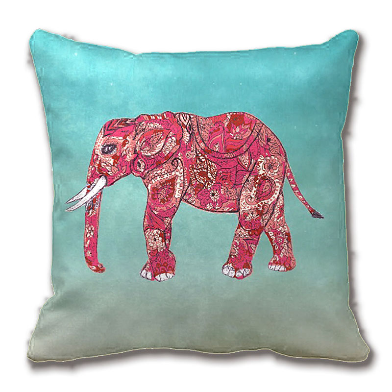 whimsical colorful elephant tribal floral paisley throw pillow case decorative cushion cover pillowcase customize gift by - Decorative Pillows Cheap