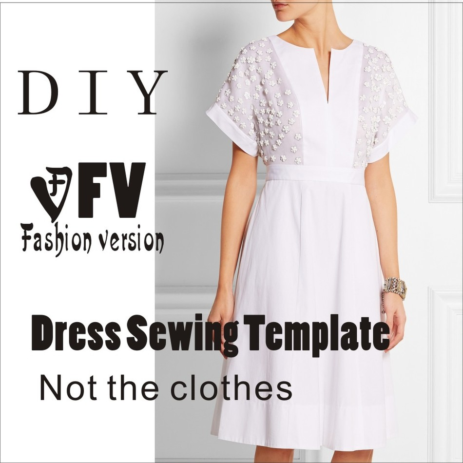 Dresses Sewing Pattern Template Cutting Drawing Clothing DIY ((Not Selling Clothes))  BLQ- 214
