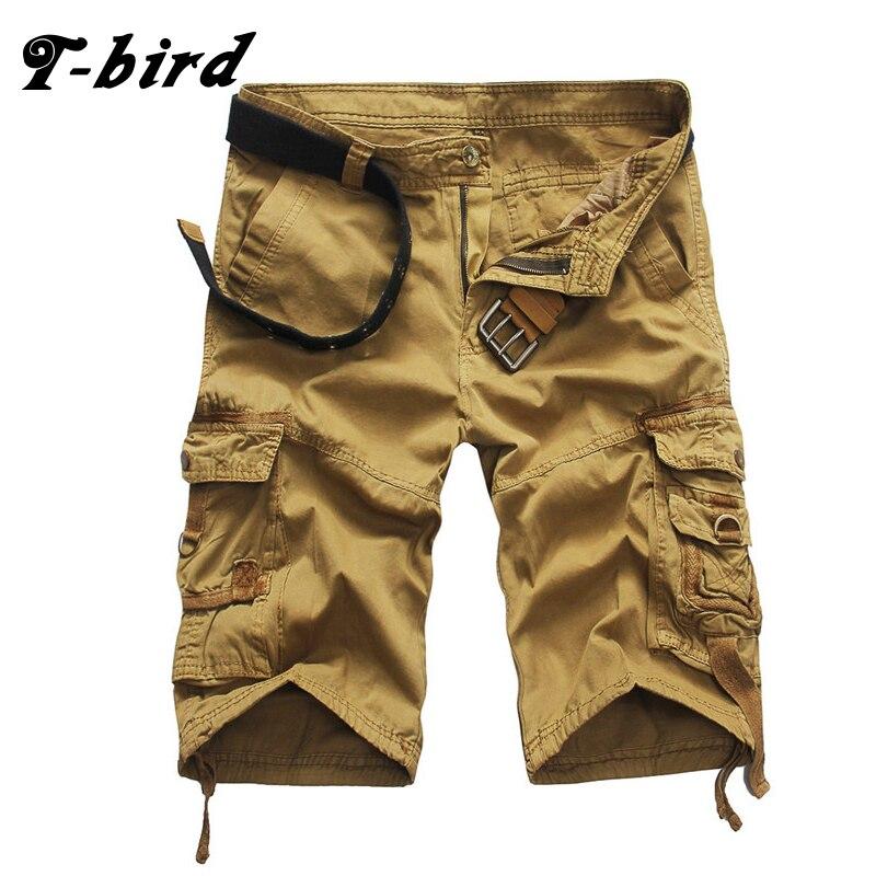 T-bird 2018 márka férfi alkalmi álcázás laza rakomány nadrág - Férfi ruházat