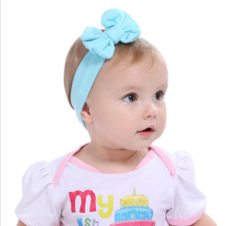 2017 Hot Sale Baby Girl Solid Knot Headband Kids Turban Knitted Bow Hair Accessories Children Cross Headwear for Baby KT017 soft headwear cross hairband turban knitted knot headband kids hair bands newbown hair accessories w 146