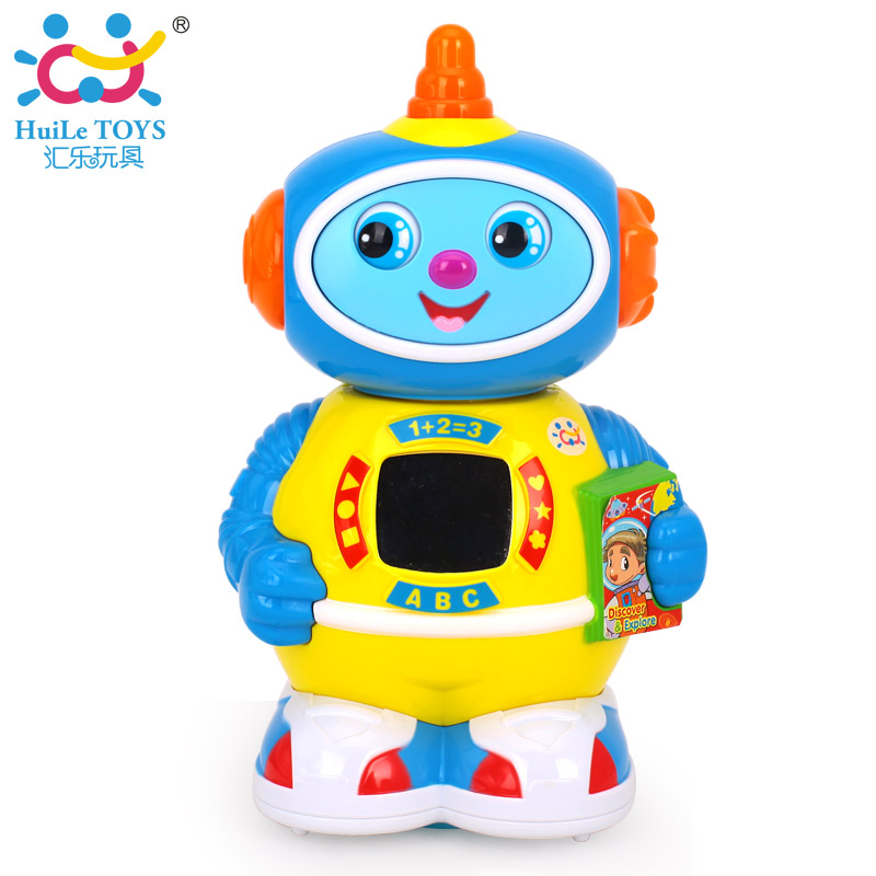 HUILE TOYS 506 Musical Rotating Robot Walking & Lighten Electronic Toy Robot Christmas Birthday Gifts Toy for Children Boys comical world rv 478 фигурка обезьяна не говорю w stratford
