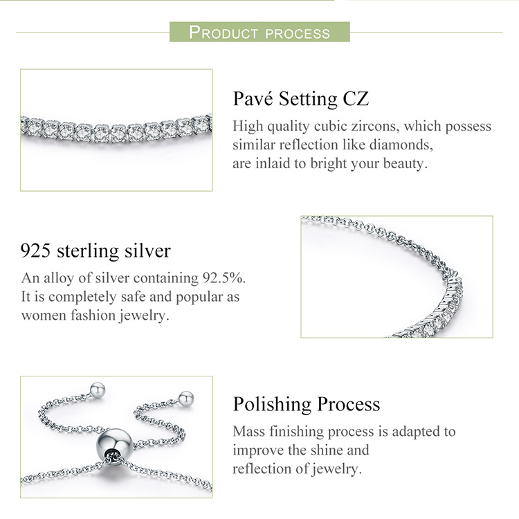 HTB1Zp8WqyAKL1JjSZFoq6ygCFXaR BAMOER Featured Brand DEALS 925 Sterling Silver Sparkling Strand Bracelet Women Link Tennis Bracelet Silver Jewelry SCB029