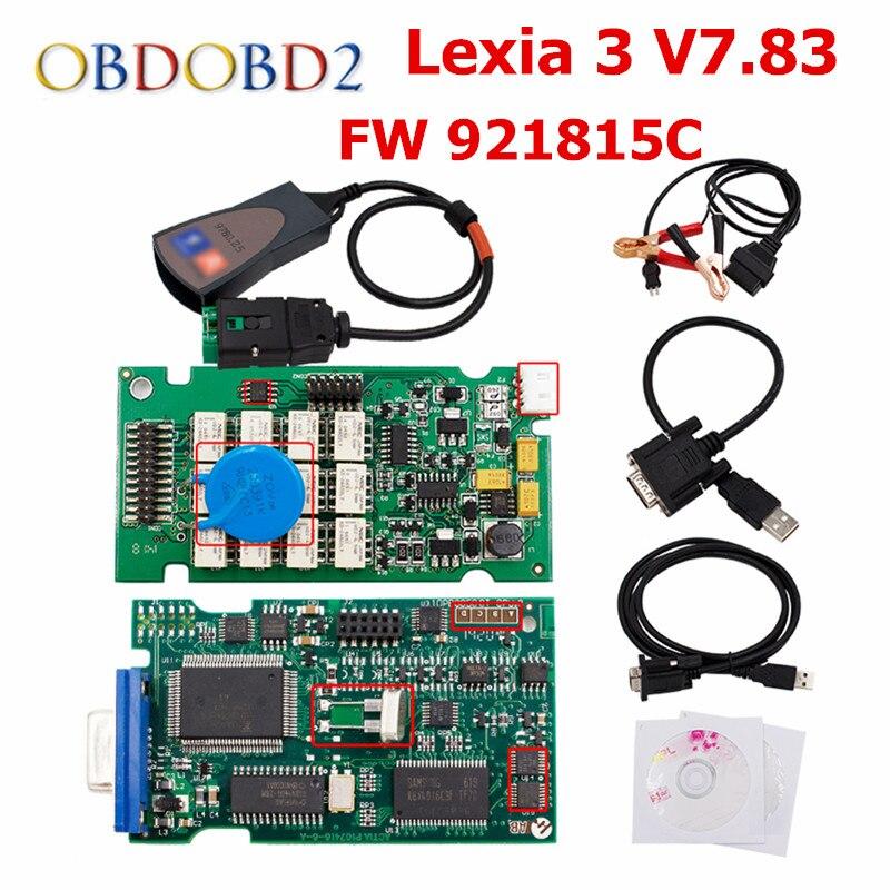FW 921815C Lexia3 PP2000 V7.83 OBD2 инструмент диагностики Lexia 3 Diagbox 7,83 на нескольких языках для peugeot и Citroen DHL Бесплатная