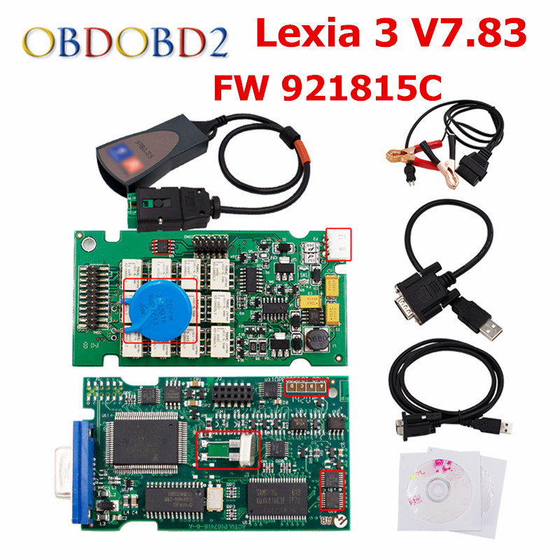FW 921815C Lexia3 PP2000 V7.83 OBD2 Diagnosewerkzeug Lexia 3 Diagbox 7,83 multi-sprachen Für Peugeot Citroen & DHL freies