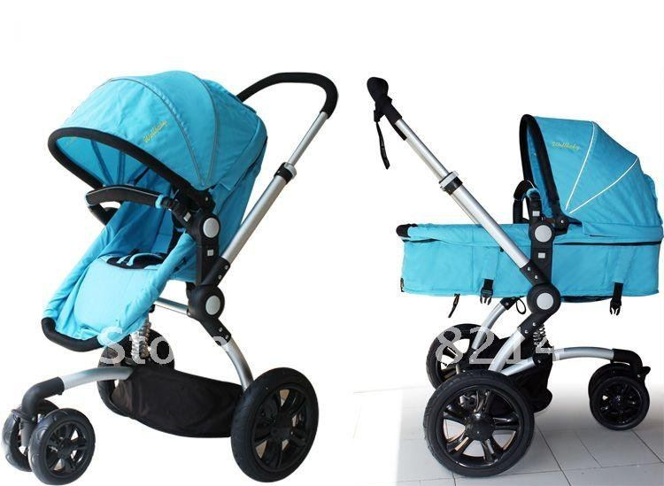 New Blue folding baby stroller with carry cot for 0 6 months baby ...