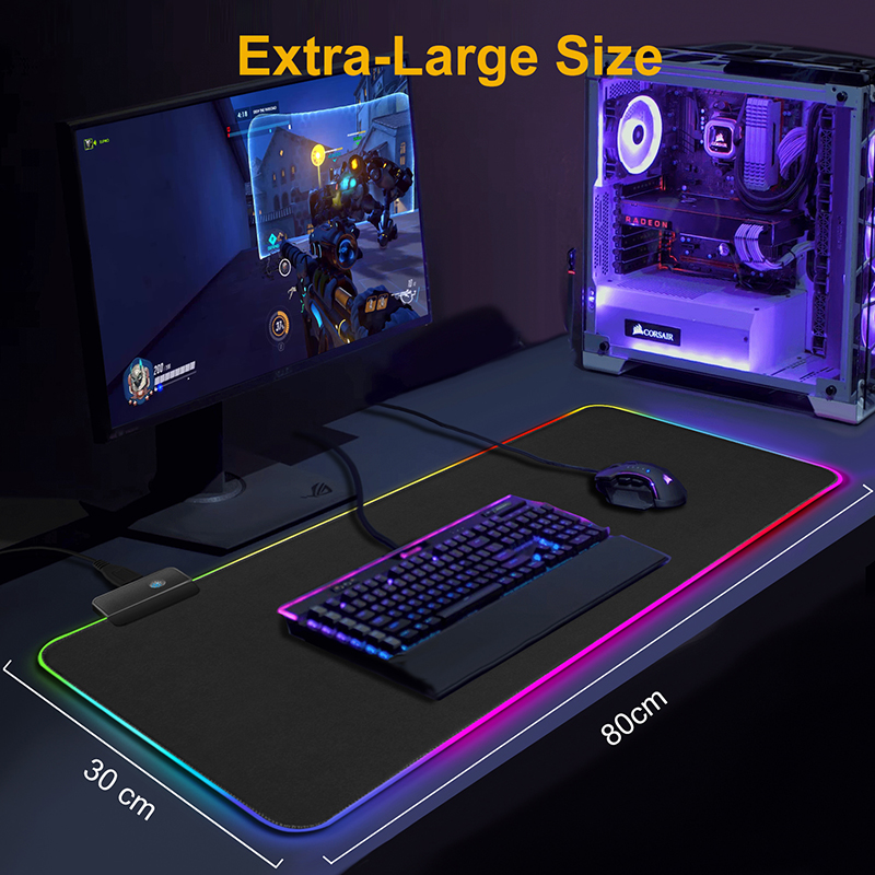 Gaming Mouse Pad Computer Mousepad RGB Large Mouse Pad Gamer XXL Mouse Carpet Big Mause Pad PC Desk Play Mat with Backlit | Happy Baby Mama