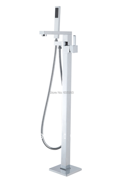 Single Handle Floor Mounted Chrome Floor Faucet - Free Shipping (FL-9110)