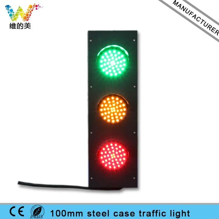 Mini Steel Housing 125mm Red Yellow Green Traffic Signal Light led electronic traffic lane control signal traffic lane indicator light with red cross