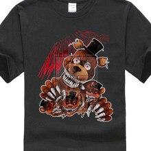 Fnaf cinco noches en Freddy pesadilla Freddy 3D impresión hombres camisetas  personalizadas manga corta Camiseta( dd9bc94a7df