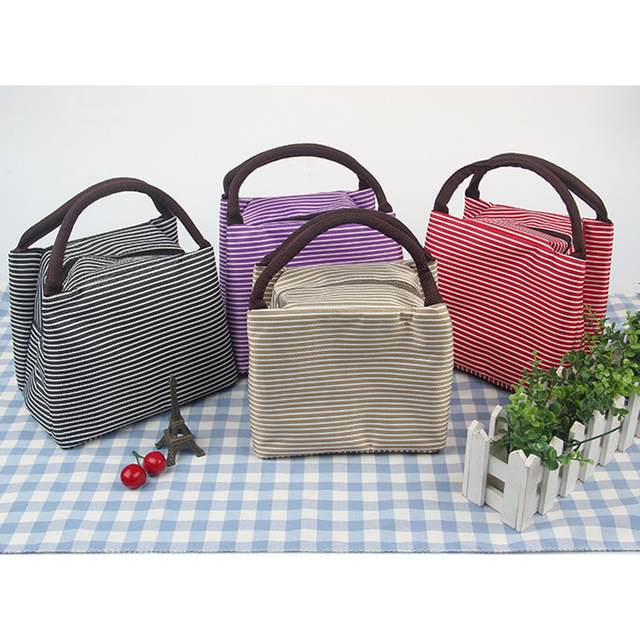 Picnic Portable Bag Lunch Insulated Cooler Box Tote Waterproof Thermal Food Canvas Beach Bags For Camping Outdoor Hiking Women