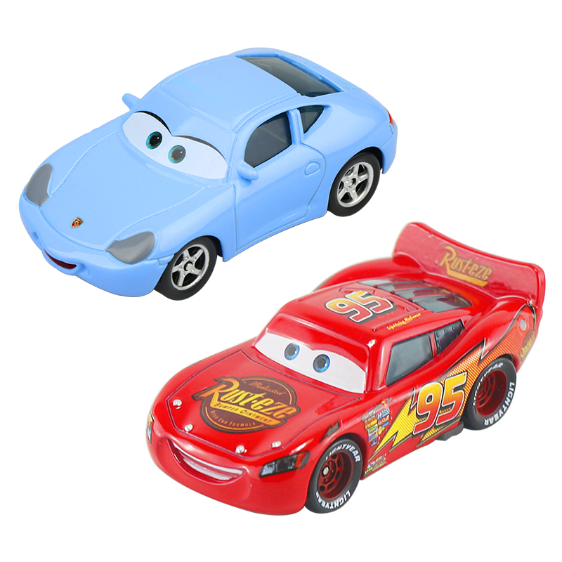 Disney Pixar Cars 1 Lightning McQueen Lovers Sally 1:55 Diecast Metal Alloy Toys Model Car Birthday Gift Toy For Kid Boy
