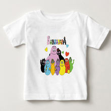 цена на 2018 New Barbapapa Kids T Shirt Baby Boys Girl T-shirt Children Summer Clothes Cartoon Cool Barbapapa shirt MJ