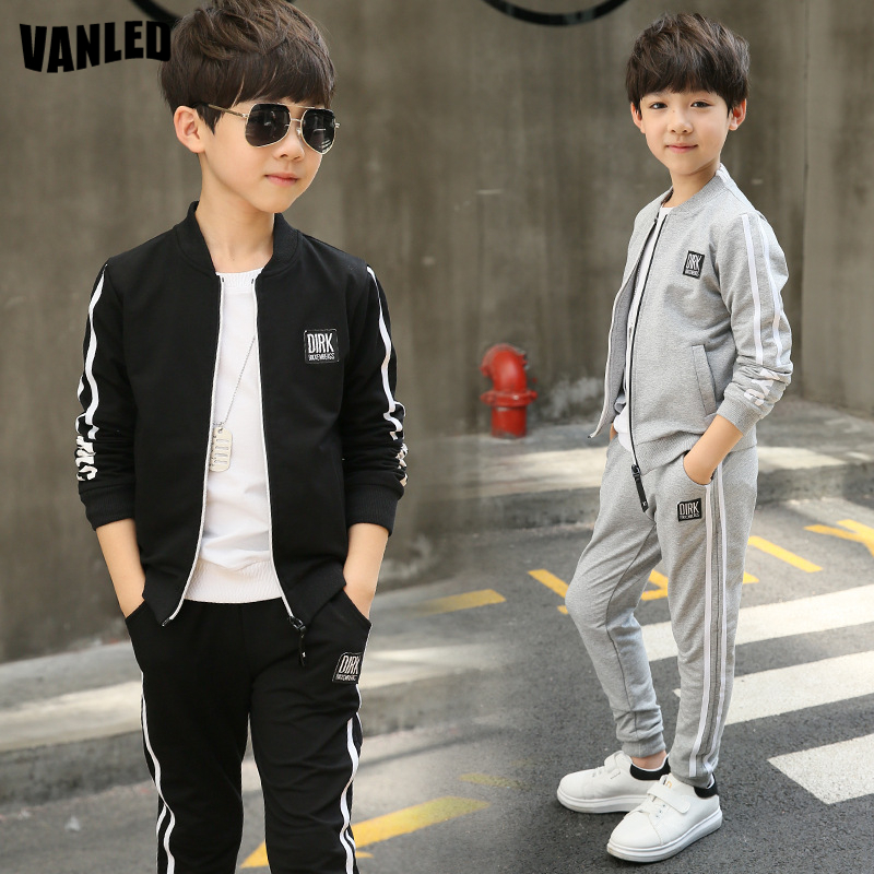 2PCS/Lot Children Boys Clothing Sets Teenagers Boys Sports Set Kids Jacket Coat+Pants Top Quality Boys Autumn Winter Clothes