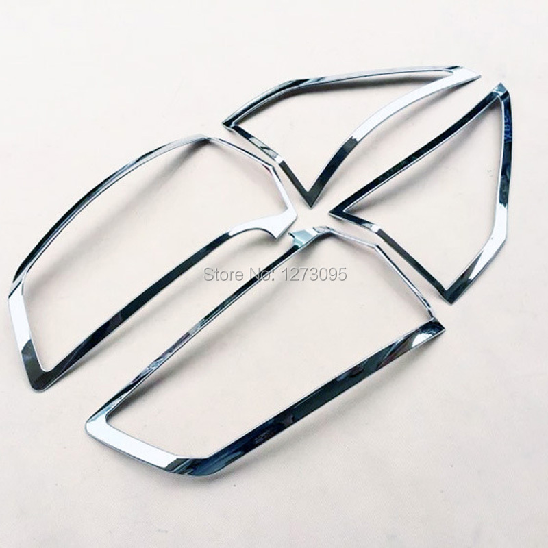 ФОТО ABS Chrome Rear Head Light Lamp Cover Trim Tail Head Light Cover for 2015 Ford Edge Car Styling Accessories