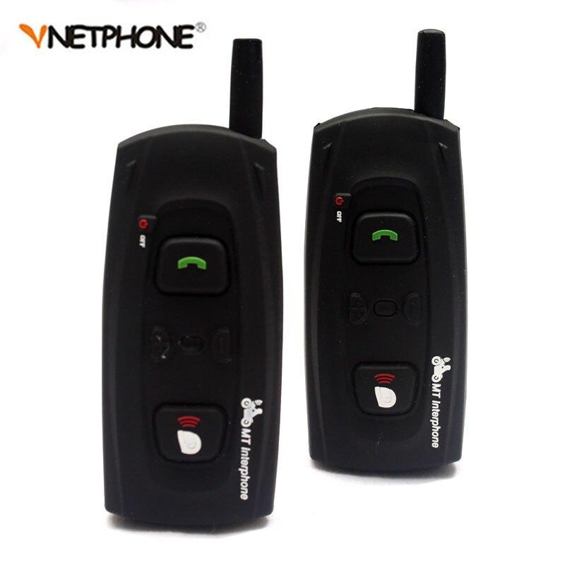 2PCS 1200M BT Bluetooth Motorcycle Helmet Intercom Headset Moto Communication Interphone Intercomunicador Stereo Earphones V2