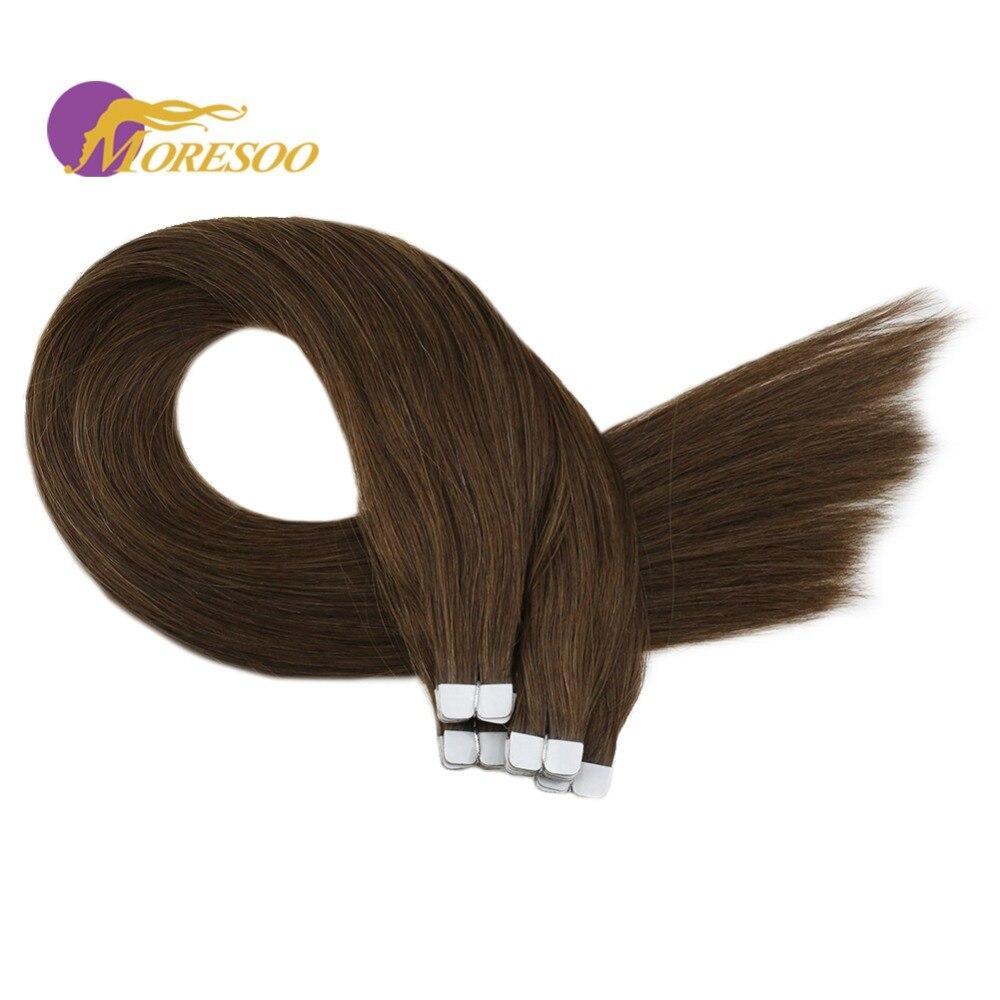 Haarverlängerung Und Perücken Pflichtbewusst Moresoo Remy Mini Band In Hair Extensions Echt Brasilianisches Menschenhaar Medium Braun #6 Kleber In Haar Extensions 2 Gr/teil 10 Stücke 20g