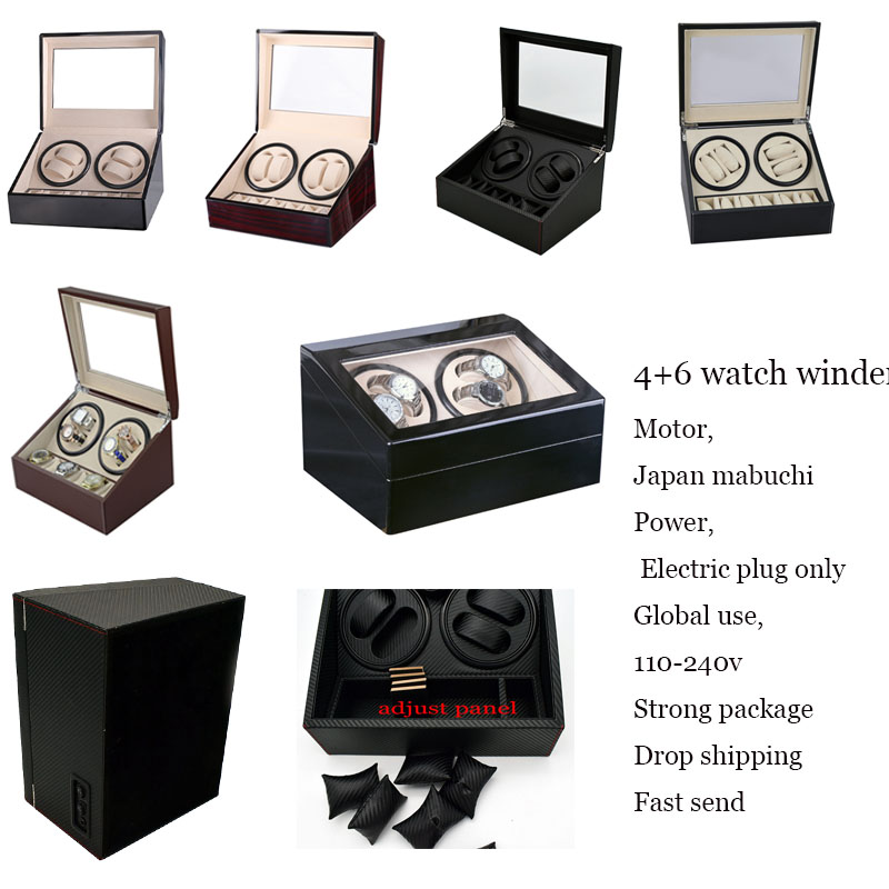 Automatic Mechanism Watch Winders gratis verzending EU brand watches France Spain style watch display motor case orgnizer holder