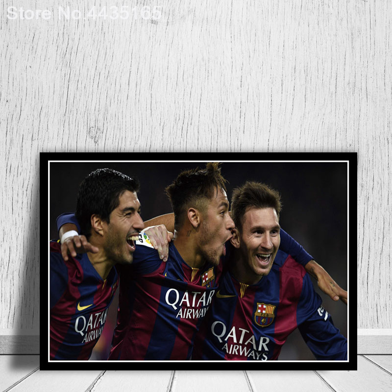 33x50 S631 Lionel Messi Neymar Football Player