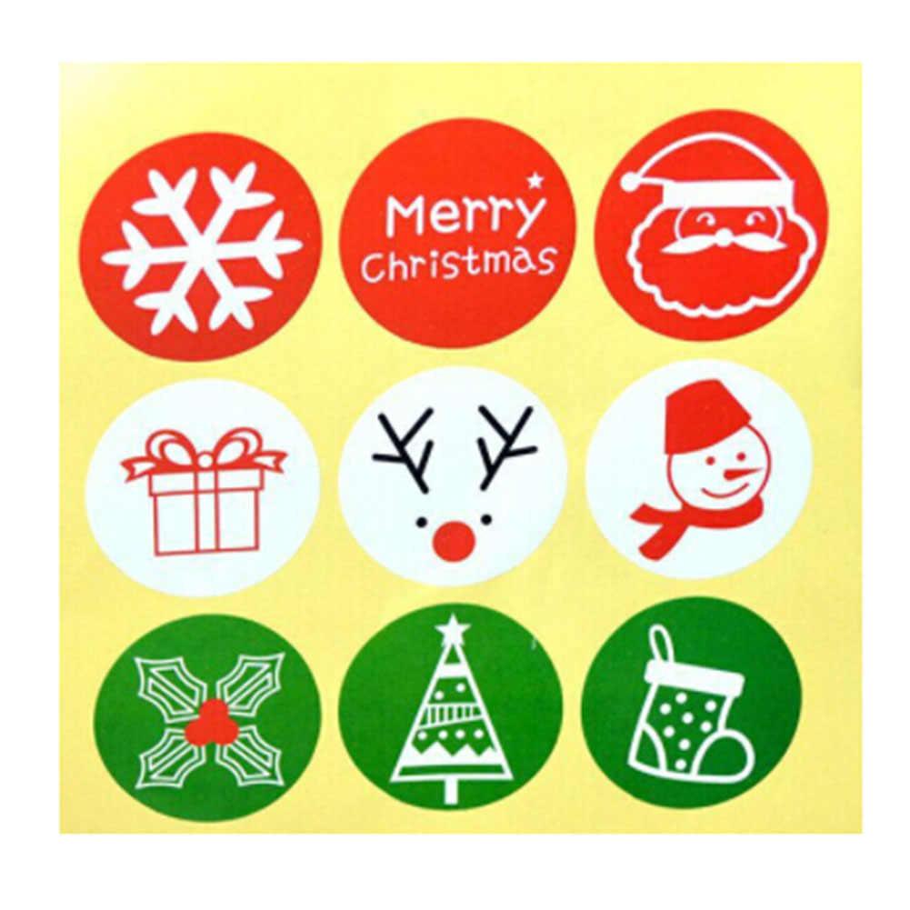 45 قطعة عيد الميلاد عيد الميلاد لواصق الختم بابا نويل ندفة الثلج الأيائل هدية الحنفية لصق للتغليف حقيبة مربع المنزل DIY الخبز