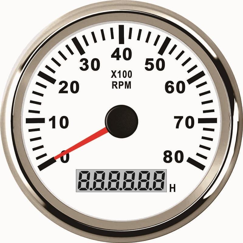 New 3 3  8 U0026quot  85mm  Universal Tachometer Rev Counter 8000rpm