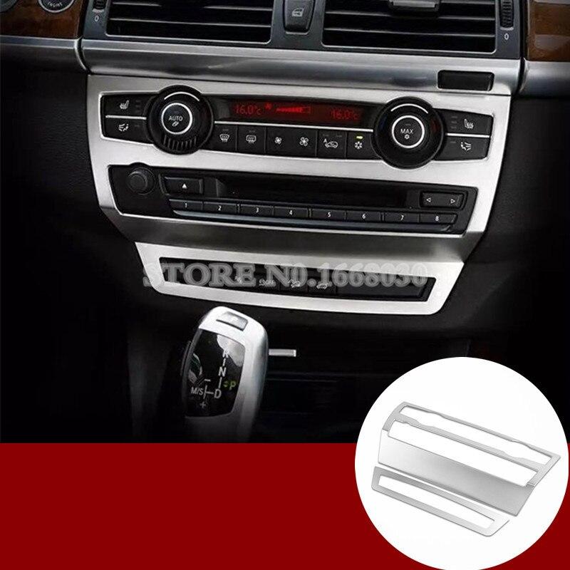 Inner Center Console Panel Cover Trim 2pcs For BMW X5 E70 2010 2013